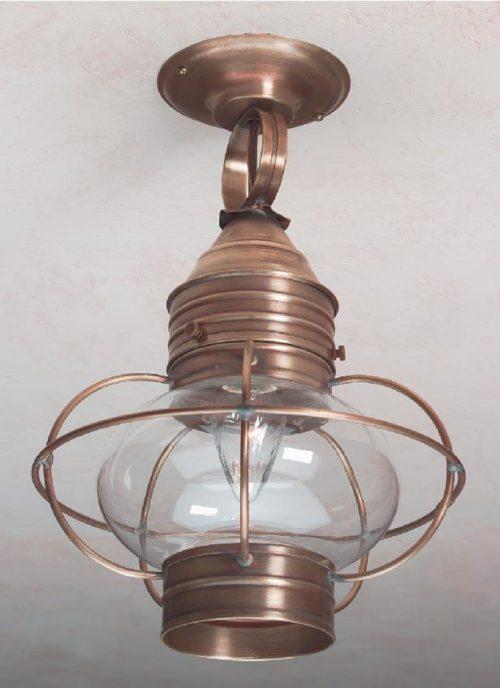 Colonial Ceiling Onion Lantern: Hammerworks Hanging Light OCL108