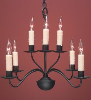 Hammerworks French Colonial Country Chandelier FCCH503 Shown Painted Black