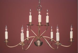 Hammerworks French Country Style Chandelier FCCH504 Shown In Antique Brass