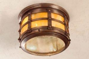 Hammerworks Tudor Style Ceiling Copper Light: Hammerworks Tudor Ceiling Light OWC1