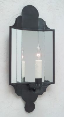Carpenter Hall Tin Mirrored Wall Sconce | Handmade By Hammerworks