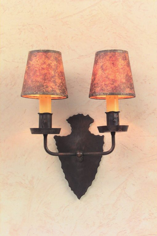 Tudor Style Wall Sconces S144 Handcrafted With Solid Copper In Antique Finish