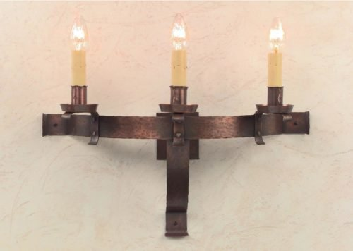 Hammerworks Tudor Wall Sconce S143 Handmade With Solid Copper In America