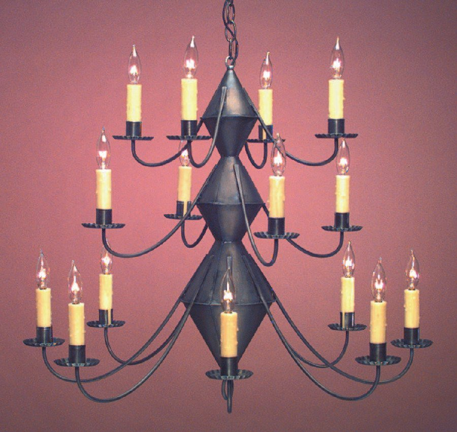 Early American Tin Chandelier CH303