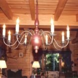 Colonial Country Wooden Chandelier - Ch203