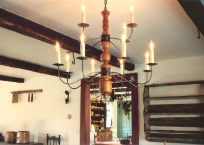 Colonial Custom Wooden Chandelier: CH121B