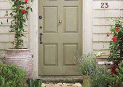 Gooseneck Doorway Copper Light: SLS508