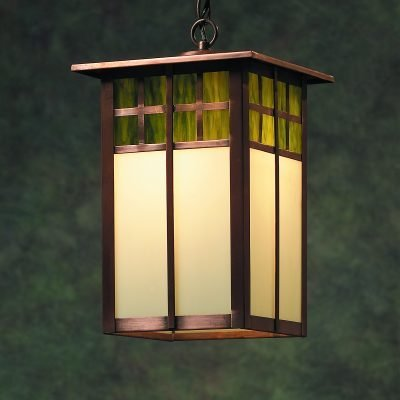 Arts & Crafts Copper Hanging Lanterns: Model Shown ACH330 Handmade With Solid Copper