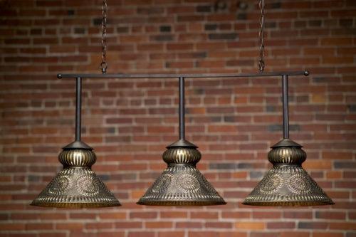 Custom Pool Table Light: Hammerworks Colonial Pool Table Light