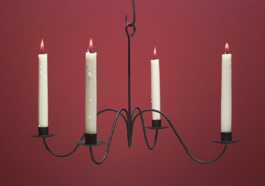 Wrought Iron Candle Chandelier WICH104