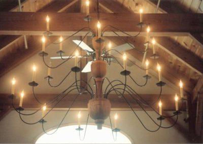 Custom Wooden Chandelier: 6' High x 6' Wide
