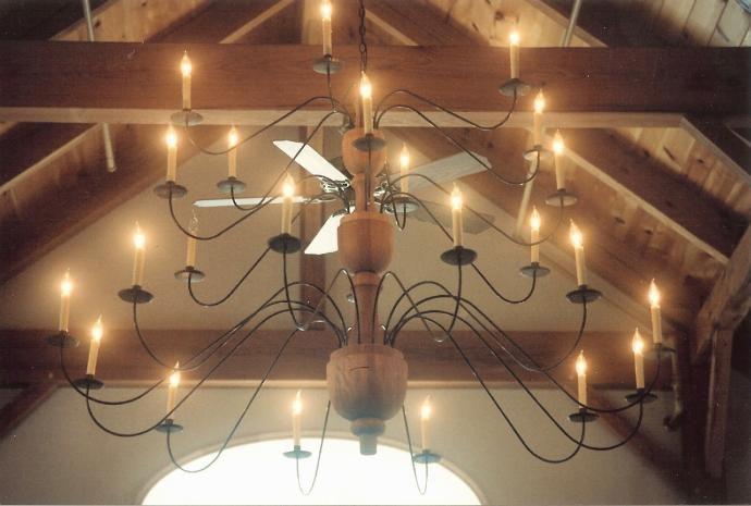 Custom Wooden Chandelier - 6' High x 6' Wide