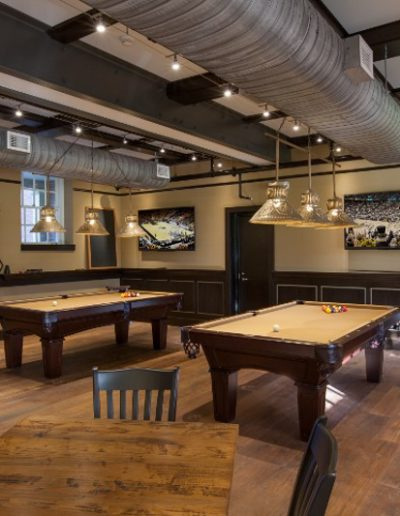 Custom Pool Table Light With Three Hammerworks Punched Shades SH101