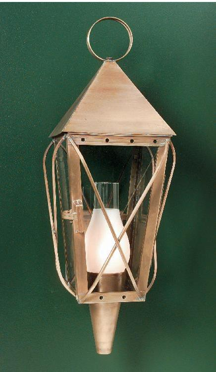 Hammerworks Discounted Wall Lantern 1009B Handcrafted In Antique Copper