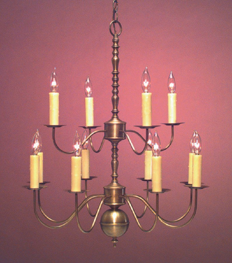 Colonial Brass Dining Room Chandelier CH100