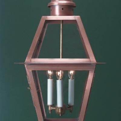 Hammerworks Colonial Pendant Light H112 Shown Handcrafted With Solid Copper In Antique Finish