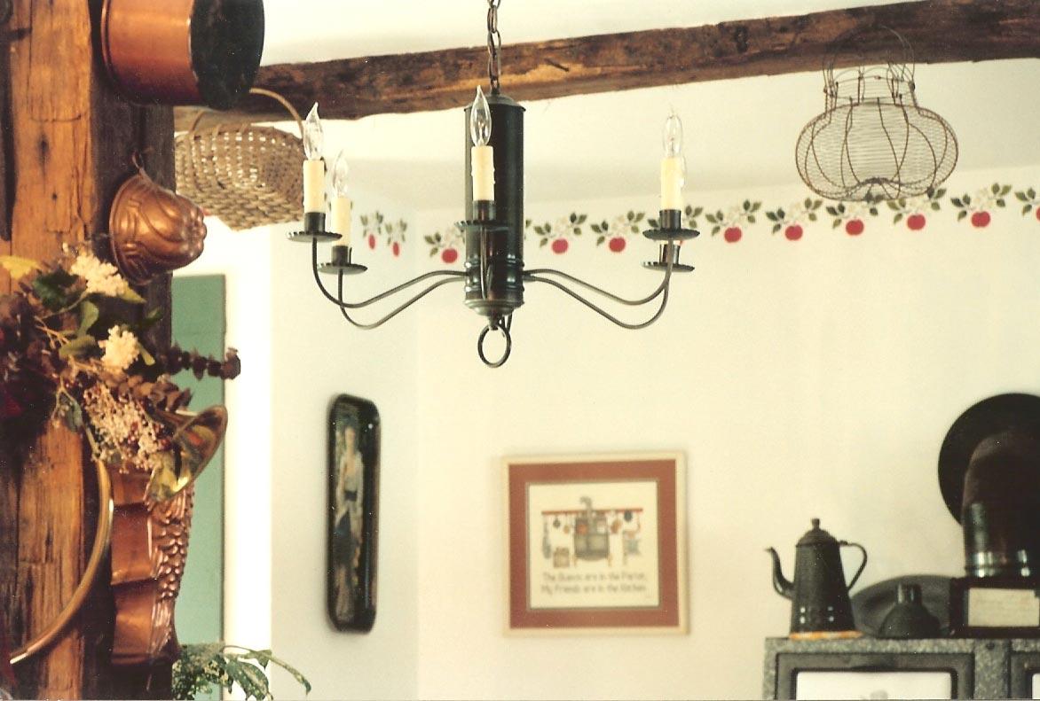 Hammerworks Colonial 18TH Century Antique Tin Chandelier CH106