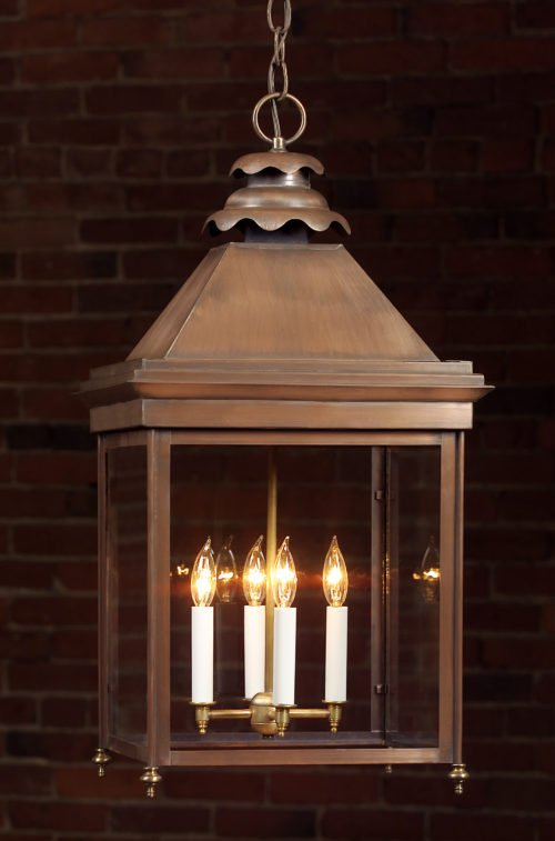Hammerworks English Manor Copper Hanging Lights Handcrafted: Product 922H