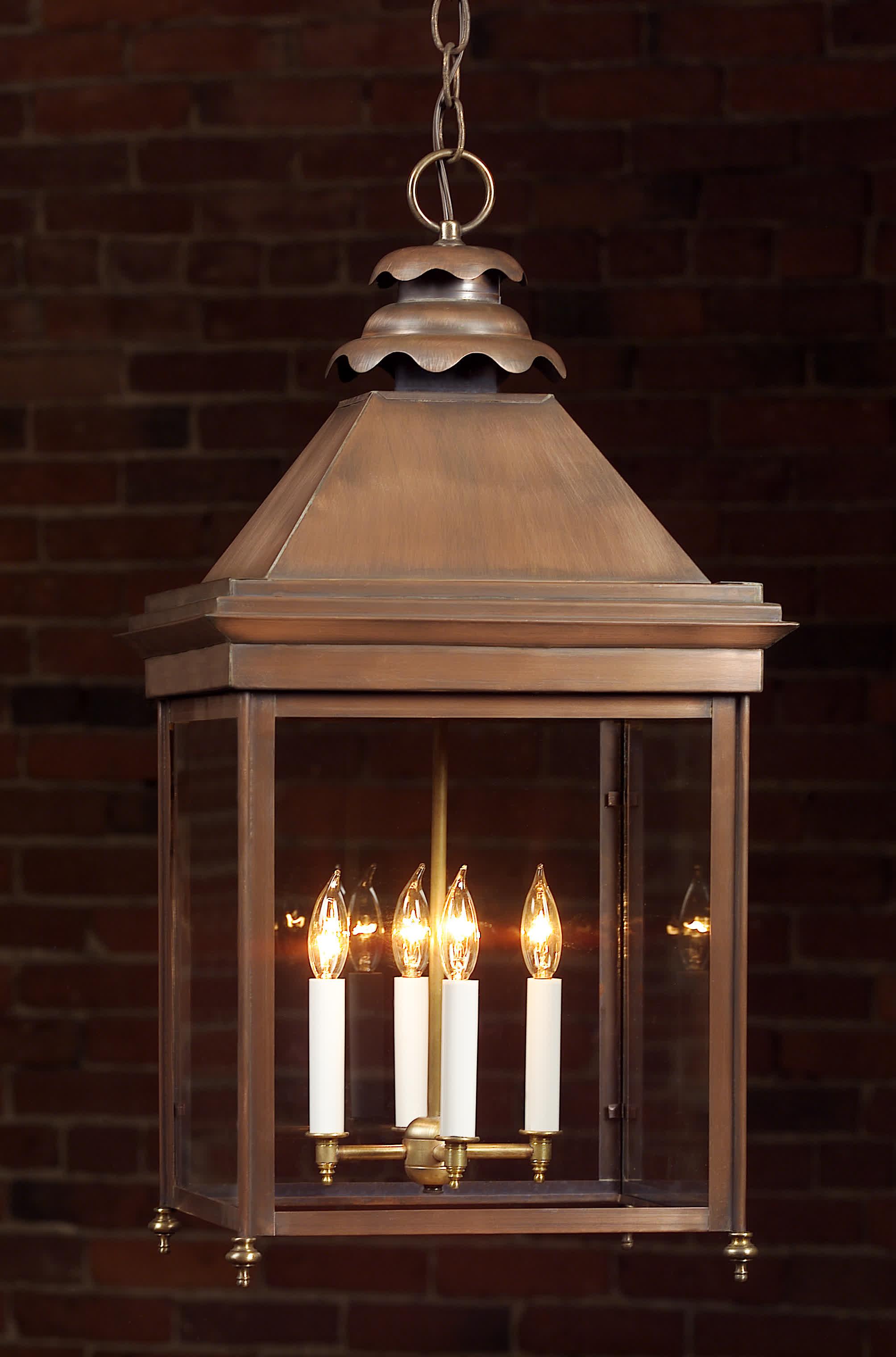 English Manor Copper Hanging Lights Light Handmade