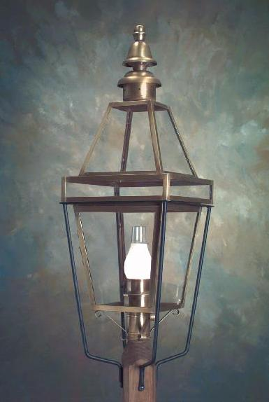 Hammerworks Copper Colonial Boston Post Lantern P103 Handcrafted With Solid Brass In Antique Finish