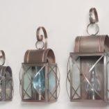 Outdoor Copper Wall Lanterns - Culvert Series Shown In 3 Sizes