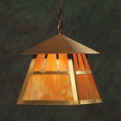 Craftsman Style Brass Hanging Lantern ACH337