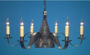 Hammerworks Colonial Punched Tin Witch's Hat : Pierced Tin Chandelier CH101P
