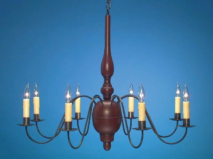 Country Wooden Chandeliers Colonial