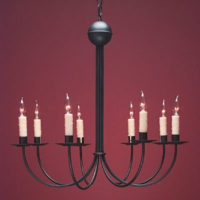 Classic French Country Chandelier FCCH510 Shown Painted Black