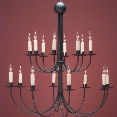 Hammerworks Grand French Country Chandeliers: FCCH510A Shown Painted Black