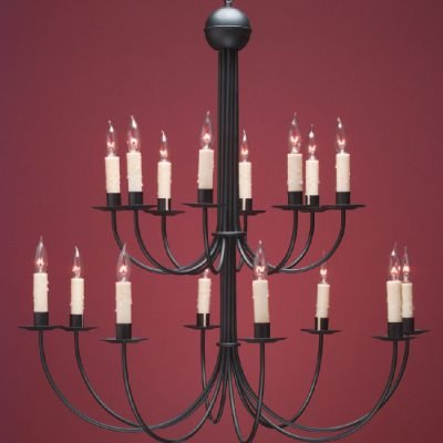 Grand French Country Chandeliers: FCCH510A Shown Painted Black