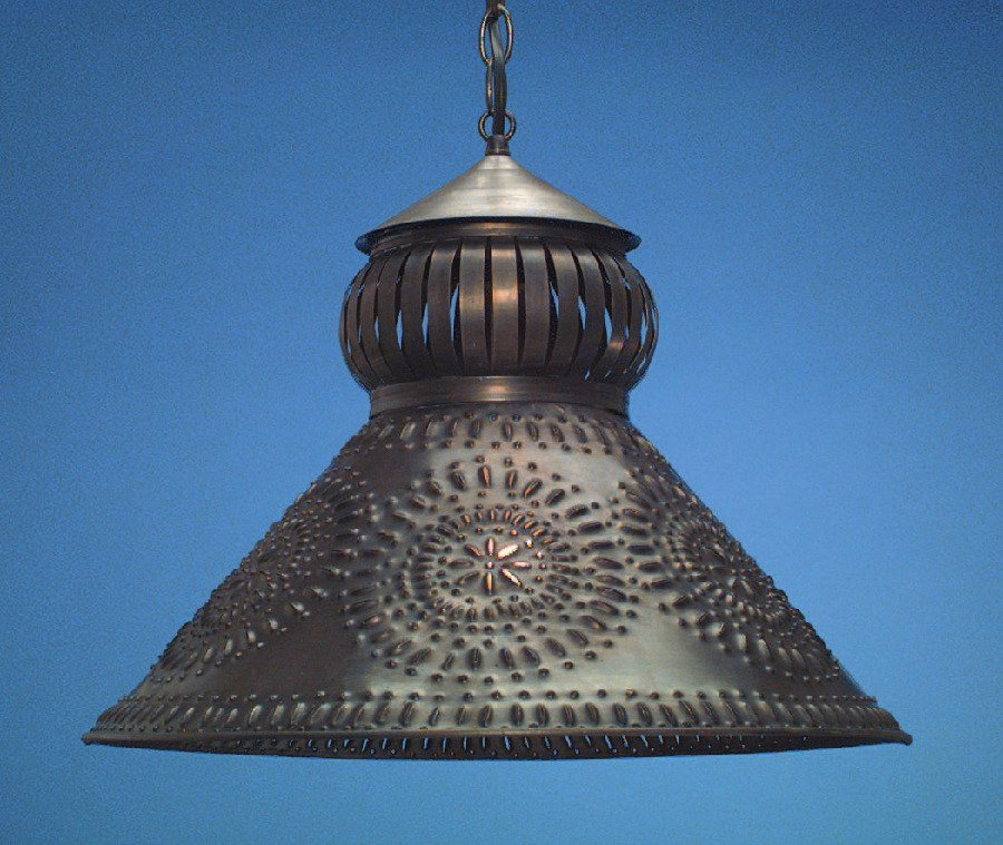 Antique Tin Punched Light Shades: SH101