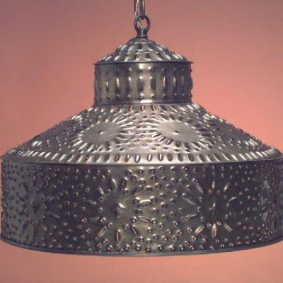 Antique Tin Pierced Pendant Light Shade SH102