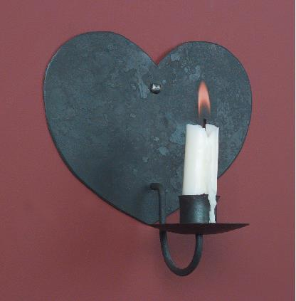 Hammerworks Wrought Iron Sconce Lighting WI101 Hand Forged With One Candle