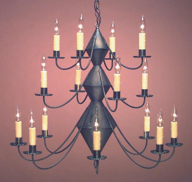 Early American Chandeliers: Hammerworks Model # CH303