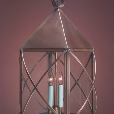 Hanging Copper Colonial Lantern HP119