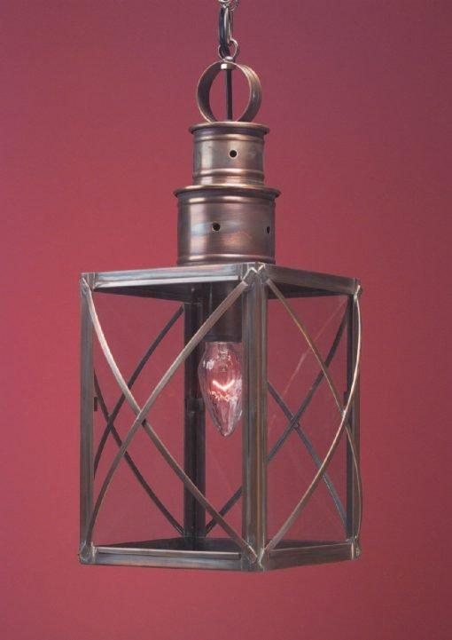 Colonial Hanging Copper Lantern HW104