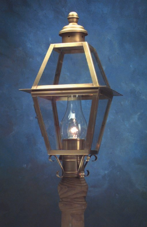 Handcrafted Copper Colonial Small Post Lantern P112