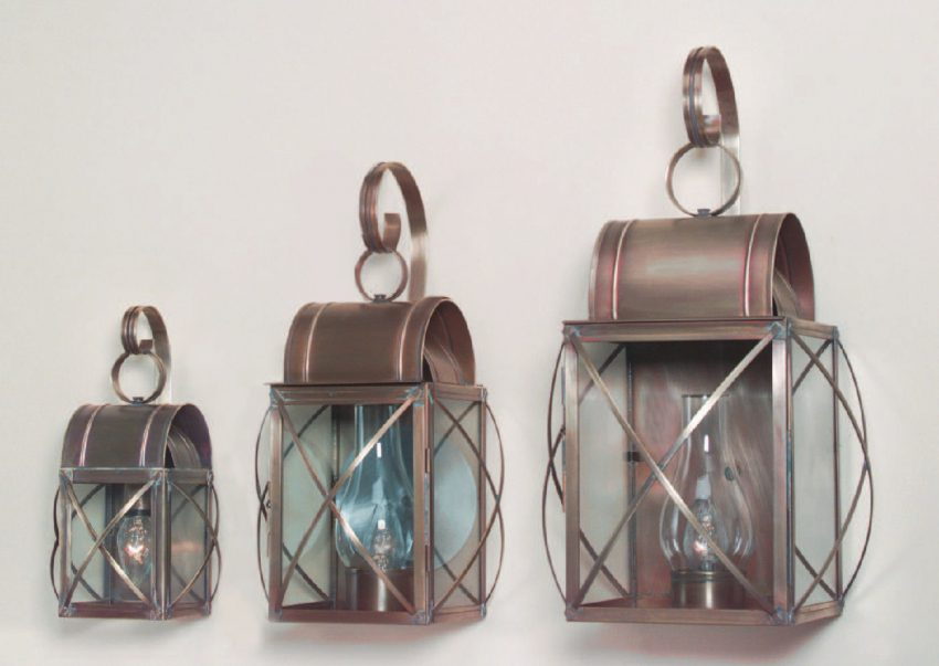 Outdoor Copper Wall Lanterns - Culvert Series