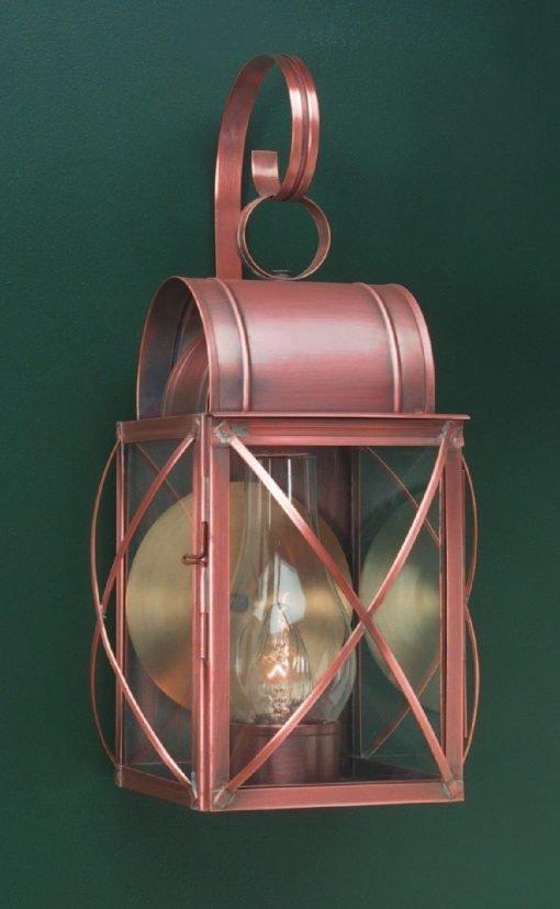 Outdoor Copper Wall Lanterns: Culvert WC106
