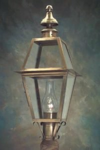 Hammerworks Handcrafted Copper Outdoor Post Lantern P102