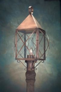Hammerworks Handmade Traditional Colonial Copper Post Light PP119