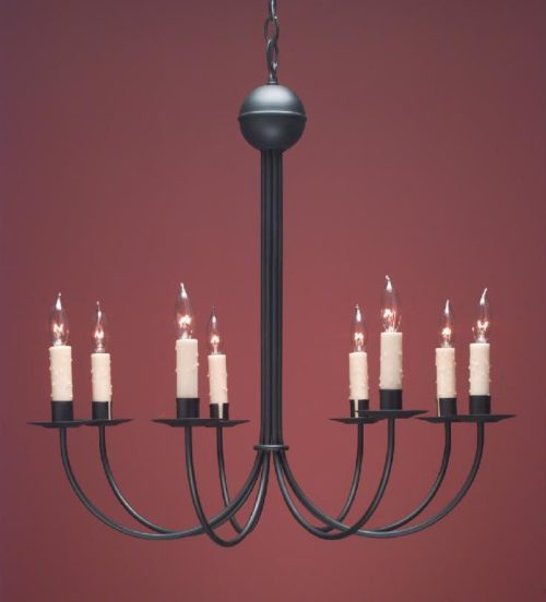 Hammerworks Colonial French Country Chandelier FCCH 510 Handcrafted | Shown Painted Black