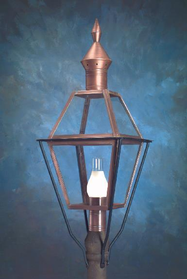 Hammerworks Colonial Copper Post Lanterns Wills P113 Handmade In New England USA