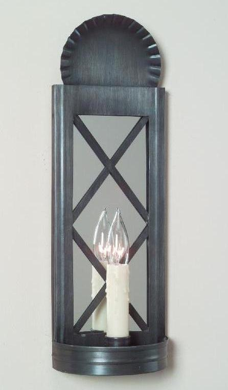 Vintage Mirrored Wall Sconce: Hammerworks Tin Wall Sconce S106A