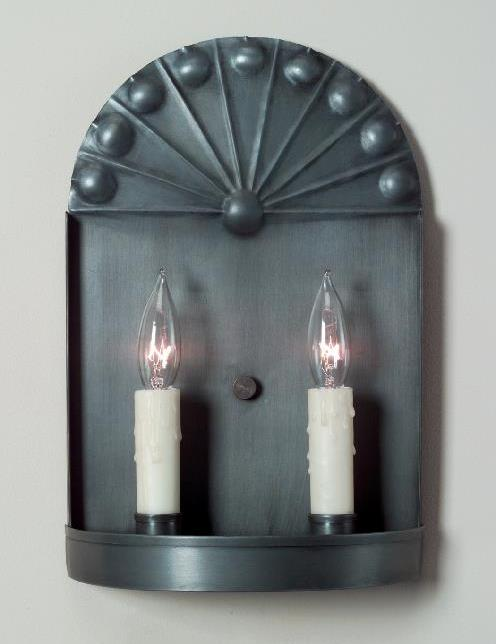 Rustic Early American Tin Wall Sconce S129