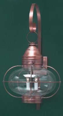Hammerworks Copper Onion Wall Lights OL12 Shown in Antique Copper