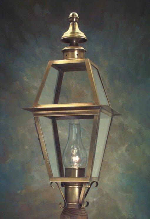 Solid Copper Outdoor Post Light P102