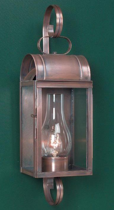 Hammerworks Cape Cod Colonial Wall Lights | W106 Shown Handcrafted With Solid Copper In Antique Finish
