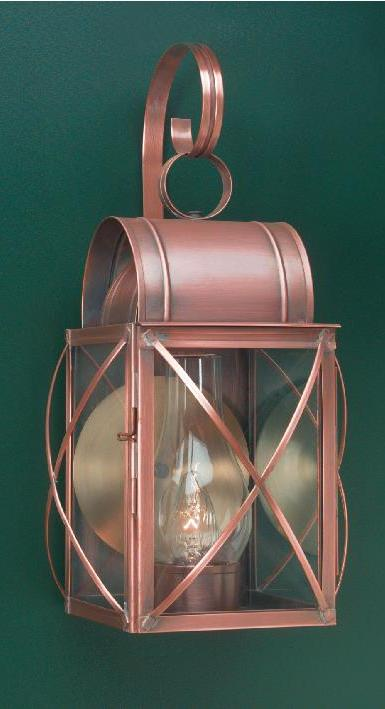 Hammerworks Outdoor Copper Wall Lanterns: Culvert WC106